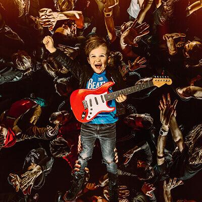 Carousel Kinderpopconcert fotografie Set Vexy