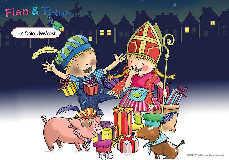 Overzicht Fien Teun Het Sinterklaasfeest liggend credits Van Hoorne Entertainment